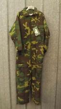 Vtg NEW SafTbak Woodland Camo Insulated Coveralls USA made sz Large 42-44
