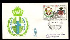 FDC SMOM convenzione postale con la repubblica Togolese