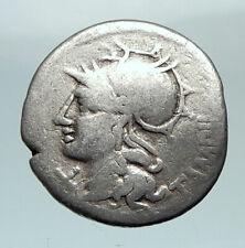 Roman Republic 137BC Rome Apollo Chariot Original Ancient Silver Coin i80481