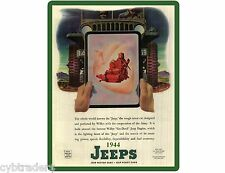 1944 Willys Jeep Military  Ad Refrigerator / Tool Box Magnet / Man Cave Item