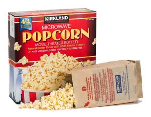 Kirkland Signature Microwave Popcorn - Butter Flavour - 2 to 44 bags (93g / bag)