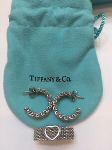 authentic tiffany co earrings And Ring