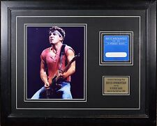 Bruce Springsteen Born in the USA Back Stage Pass Framed w/ Glossy Photo! NICE!