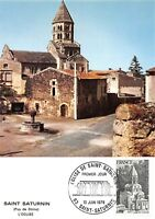Carte Maximum FDC France SAINT SATURNIN Eglise 1978 SAINT SATURNIN