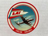Vintage LAI Italian Airlines Luggage / Baggage Label