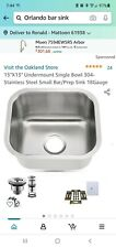 """New listing New 304 Stainless Steel Under mount Single Bowl Bar Sink 15""""X13"""""""