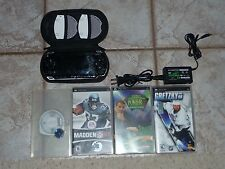 Sony Playstation PS-1001 Portable Console Bundle w/ 4 Games, Memory Card & Case