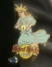 Hard Rock Cafe NEW YORK 2001 Marathon Runner PIN Statue of Liberty Girl #6501