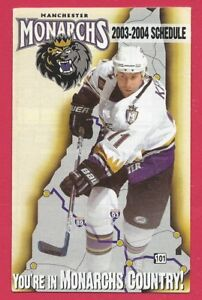 Manchester Monarchs 2003-04 AHL Hockey Schedule – Steve Kelly Photo – Dunkin