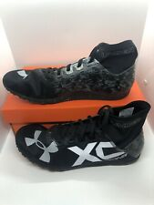 Under Armour UA Charged Bandit XC Men's Spikes Shoes 1273938 001 Black Size 13