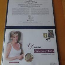 2002 ARGENTO PROOF Gibilterra 1 CORONA MONETA FAR rintracciare + COA Principessa Diana 1/500