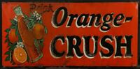 "ORANGE CRUSH SODA POP ORANGES 24"" HEAVY DUTY USA MADE METAL ADVERTISING SIGN"