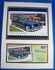 NEW USPS First Day Issue Matted Stamp Print 55 Ford Thunderbird for Dad Man Cave