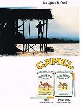 PUBLICITE ADVERTISING 074  1989  CAMEL   CIGARETTES  les legeres
