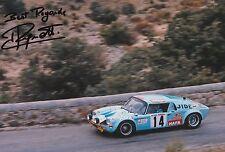 Jean Ragnotti foto firmada de mano 12x8 Renault Rally 15.