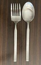 """Christofle Acier Gamma 10"""" Serving Fork & Spoon Set Stainless Steel France"""