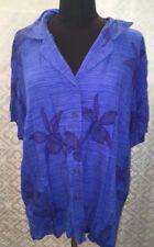 Maggie McNaughton Womens Plus Size 3X 2 Piece Shirt Top Skirt Set Blue 2 pc