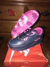 Women's Nike Air Max 90 QS Running Shoes Dark Blue/purple 813159-104