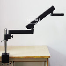 Long Arm Heavy Duty Boom Large Stereo Clamp Table Stand Pillar For Microscope US