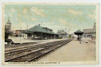 ANTIQUE POSTCARD - PHILADELPHIA & READING RAILROAD STATION QUAKERTOWN PA railway