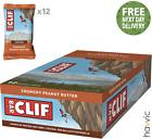 Clif Bar Plant Based Energy Bar | 12 x 68g Bars Crunchy Peanut Butter