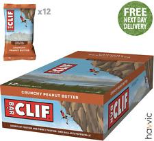 Clif Bar Plant Based Energy Bar   12 x 68g Bars Crunchy Peanut Butter
