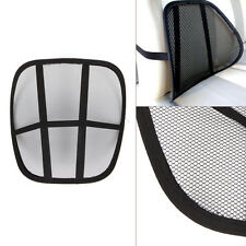 Massage Cushion Cool Vent Mesh Back Lumber Support Home Chair Car Seat Pad Black