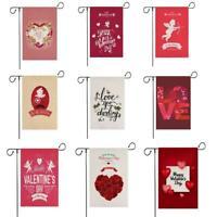 Evergreen Love Valentine's Day Glitter Arrow Applique Flax Garden Flag decorativ