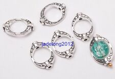 20pcs Tibetan Silver Charms OVAL Spacer Beads Frame Jewelry 10x15MM C3159