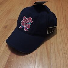 London 2012 Olympic Official Strapback Hat Blue Pink Logo One Size NEW
