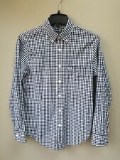 Abercrombie & Fitch Size XS Blue Checkered Long-sleeve Button-down Shirt