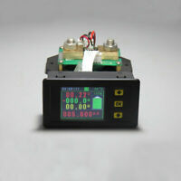0-120V 0-500A DC Digital Multimeter Volt Amp Power Watt Coulomb Capacity Time