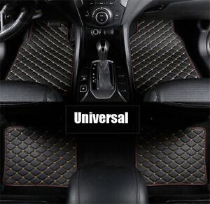 4x Black PU Leather Car Floor Mats For RHD/LHD BMW 3 5 7 Series F20 E90 F30 E60