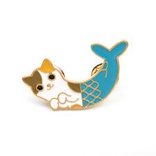 Novelty Mermaid Cat Fish Collar Pins Badge Corsage Cartoon Brooch Jewelry Gift