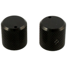 NEW Metal Guitar/Bass Knobs (2) With Indicator & Set Screw Made in Japan - BLACK