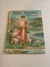 1954 Bible Stories By Mary Alice Jones Rand McNally Elf Book