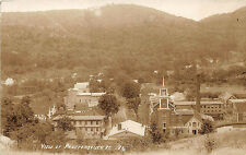 Proctorsville VT Birds Eye Town View RPPC Postcard