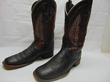 Lucchese Men's 12 D Chocolate Leather Horseman Square Toe Cowboy Western Boots