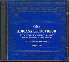 Cilea: Adriana Lecouvreur Leyla Gencer Zambon CD 2 Discs Golden Age Of Opera GOA
