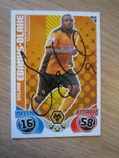 hand signed - Sylvan Ebanks-Blake of Wolves on a 2010/11 Match Attax card