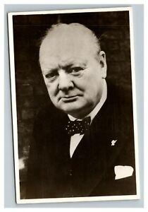 Vintage 1950 Postcard German Card of Winston Churchill