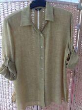 Simorra Green Shirt Blouse Size 18 Microfibre Very Smart Adjustable Sleeves
