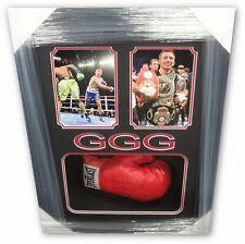 Gennady Golovkin GGG Hand Signed Auto Everlast Boxing Glove Full Signature Frame