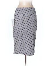 New Women Lularoe Cassie Gray Black Pencil Straight Skirt Size S