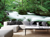 3D Green Forest Nature Landscape Self-adhesive Living Room Mural Wallpaper Photo