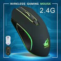 Wireless Gaming Mouse Rechargeable Silent LED Backlit USB Optical Ergonomic PC