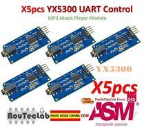 5pcs YX5300 UART Control Serial Module MP3 Music Player Module