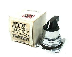 NEW CUTLER HAMMER 10250T3053 SELECTOR SWITCH SER.A3