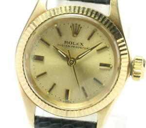 ROLEX Oyster perpetual 6619 cal.1130 K14YG Automatic Ladies Watch_555171