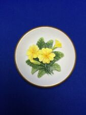 "Primroses #226 4"" - W H Bossons Chalk Ware Circular Flower Plaque Make Offer"